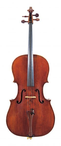 Front of a cello by Alessandro Gagliano, Naples, 1709