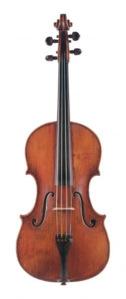 front of a viola by Alessandro Gagliano, Naples, c1720