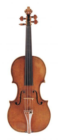 front of a violin by Andrea Guarneri, Cremona, 1662
