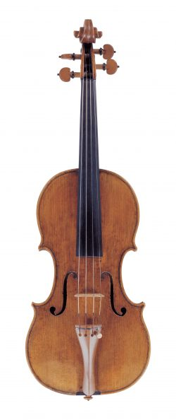 front of a violin by Andrea Guarneri, Cremona, 1673