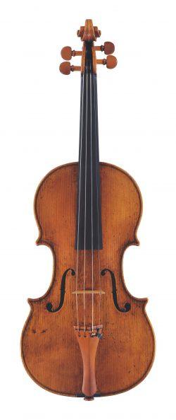 front of a violin by Andrea Guarneri, Cremona, 1684