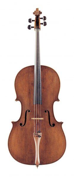 front of a cello by Andrea Guarneri, Cremona, 1697