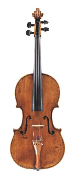 front of a viola by Andrea Guarneri, Cremona, c1690