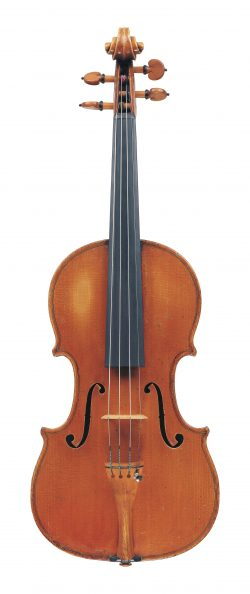 Front of a violin by Annibale Fagnola, Turin, 1925