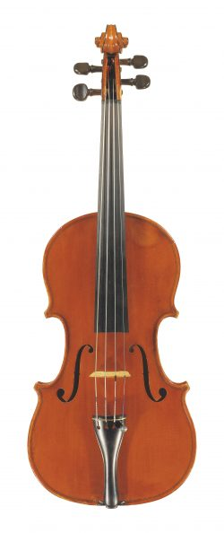 Front of a violin by Annibale Fagnola, Turin, 1929