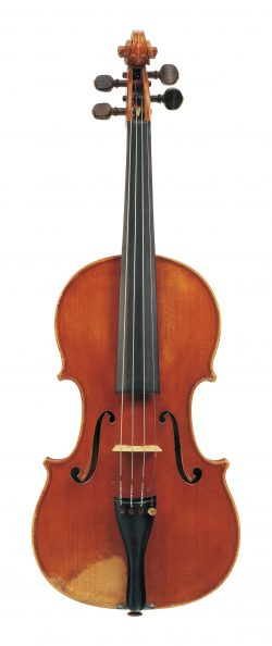 Front of a violin by Annibale Fagnola, Turin, 1932