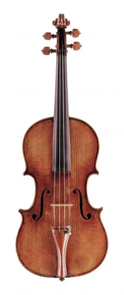 front of a viola by Anselmo Bellosio, Venice, c1780
