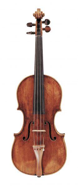 front of a violin by Anselmo Bellosio, Venice, c1785