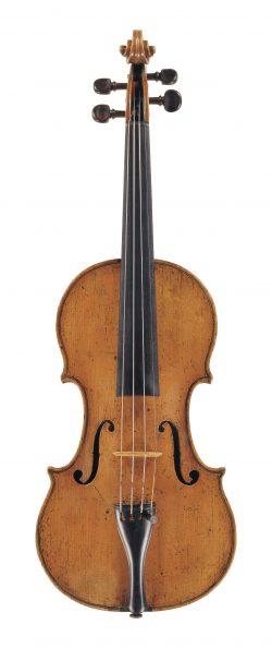 front of a violin by Antonio Gragnani, Livorno, 1773