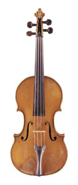 front of a violin by Antonio Gragnani, Livorno, 1784