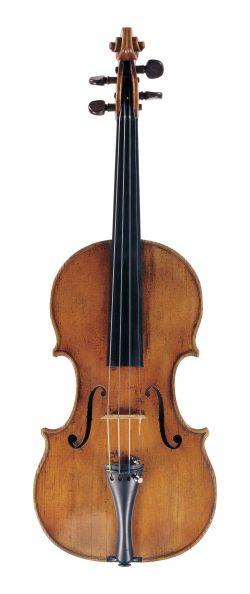 front of a violin by Antonio Gragnani, Livorno, 1786