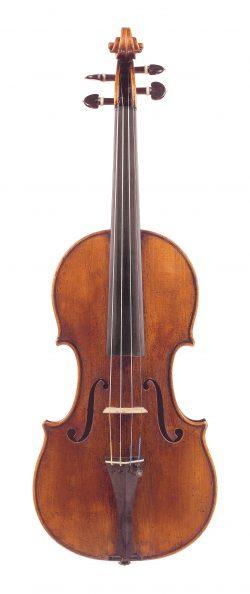 Front of a violin by Antonio Stradivari, Cremona, 1690, ex-Stephens; Verdehr