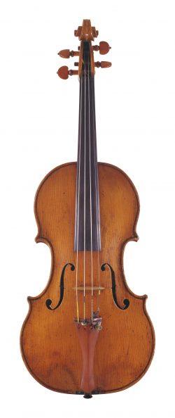 front of a violin by Camillo Camilli, Mantua, 1730