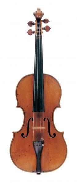 front of a violin by Camillo Camilli, Mantua, 1739