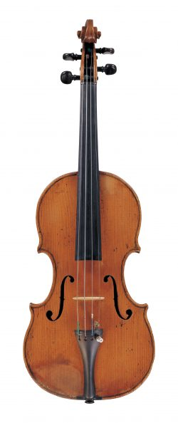 front of a violin by Camillo Camilli, Mantua, 1751