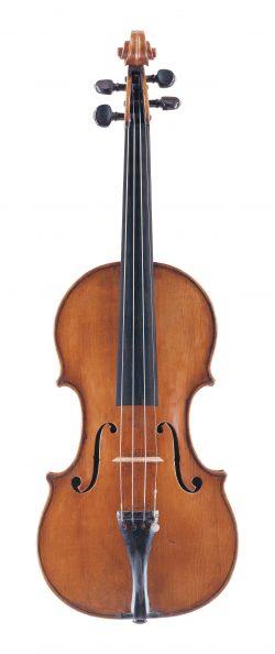 front of a violin by Camillo Camilli, Mantua, c1725
