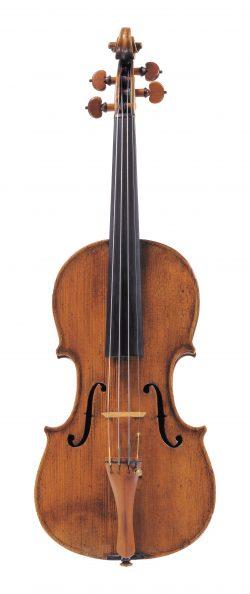 front of a violin by Carlo Antonio Testore, Milan, 1752