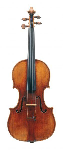 front of a violin by Carlo Bergonzi, Cremona, 1736, ex-Segelman