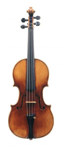 front of a violin by Carlo Bergonzi, Cremona, c1720, ex-Paganini