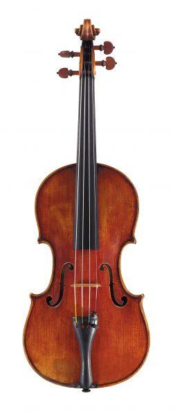 front of a violin by Carlo Ferdinando Landolfi, Milan, 1752