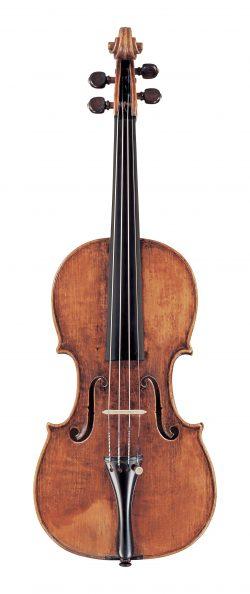 front of a violin by Carlo Ferdinando Landolfi, Milan, c1750