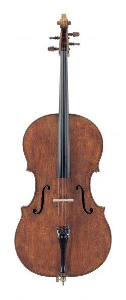 Front of a cello by Carlo Giuseppe Testore, Milan, circa 1690