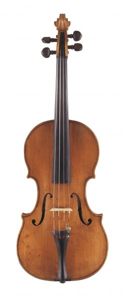 front of a violin by Carlo Giuseppe Testore, Milan, c1705