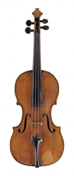 front of a violin by Carlo Giuseppe Testore, Milan, c1710