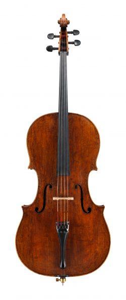 front of a cello by Carlo Testore Giuseppe, Milan, 1697