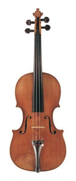 front of a violin by Carlo Tononi, Venice, 1726