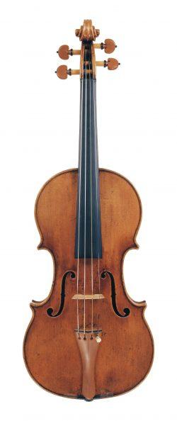 front of a violin by Carlo Tononi, Venice, c1715