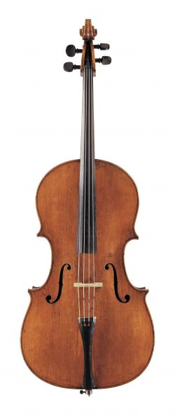 front of a cello by David Tecchler, Rome, 1707