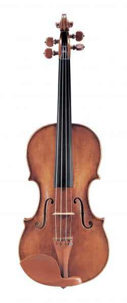 front of a violin by David Tecchler, Rome, c1720