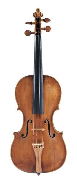front of a violin by David Tecchler, Rome, c1725