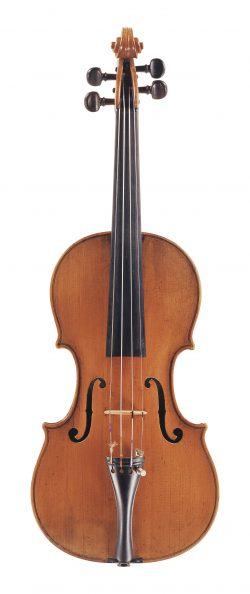 front of a violin by David Tecchler, Rome, c1730