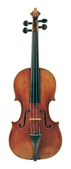 Front of a violin by Domenico Montagnana, Venice, 1731, ex-Bloomfield