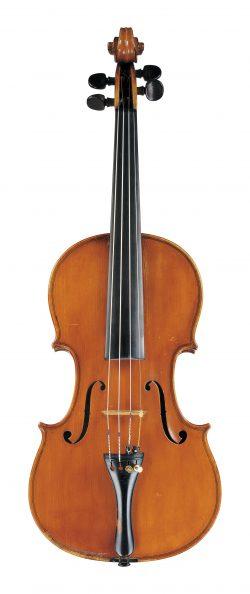 front of a violin by Enrico Rocca, Genoa, 1911