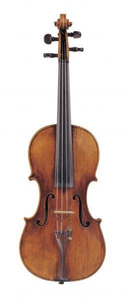 Front of a violin by Felix Mori Costa, Parma, circa 1800