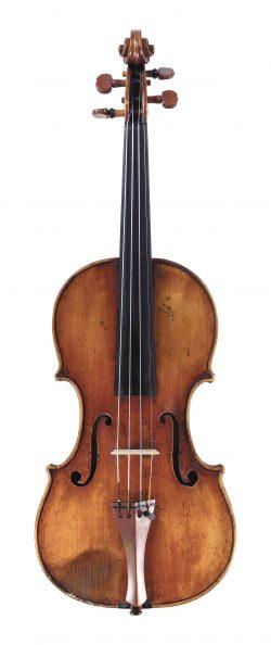 Front of a violin by Felix Mori Costa, Parma, circa 1805