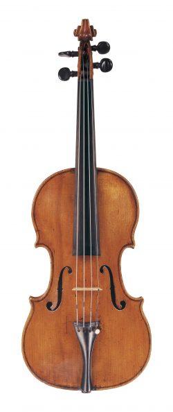 Front of a violin by Ferdinando Gagliano, Naples, circa 1770