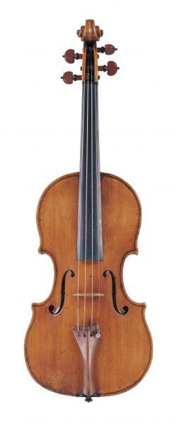 Front of a violin by Ferdinando Gagliano, Naples, 1782