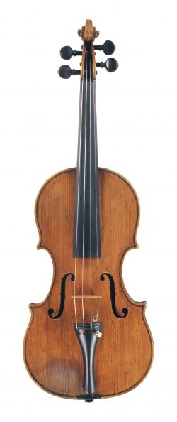 Front of a violin by Francesco Emiliani, Rome, circa 1725