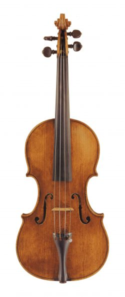 Front of a violin by Francesco Emiliani, Rome, 1725