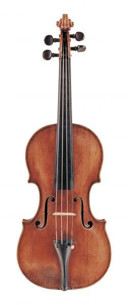 Front of a violin by Francesco Gobetti, Venice, 1717