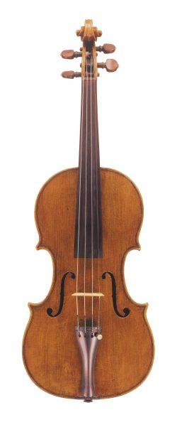 Front of a violin by Francesco Rugeri, Cremona, 1685