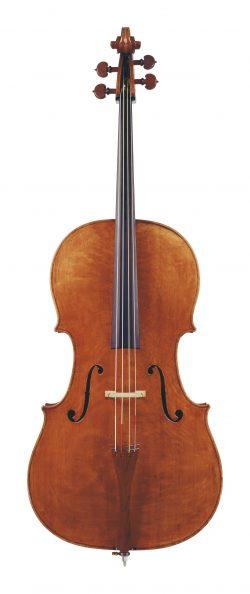 Front of a cello by Gennaro Gagliano, Naples, circa 1760