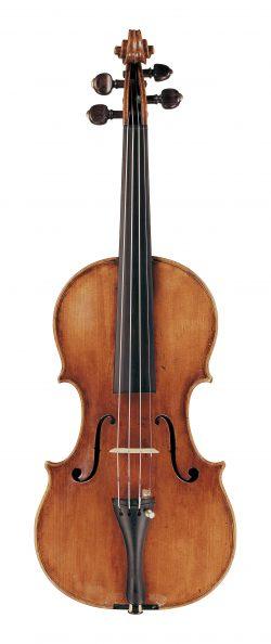 Front of a violin by Giorgio Serafin, Venice, 1743