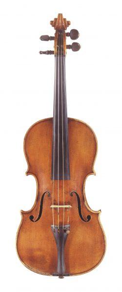 Front of a violin by Giovanni Battista Ceruti, Cremona, 1813
