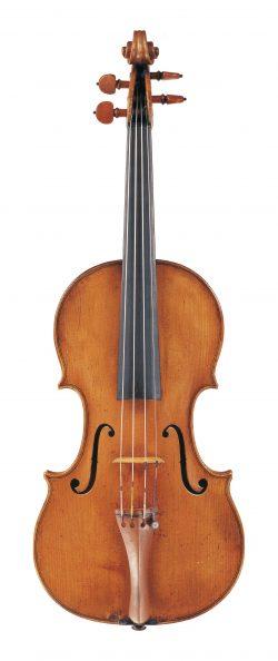 Front of a violin by Giovanni Battista Gabrielli, Florence, 1770