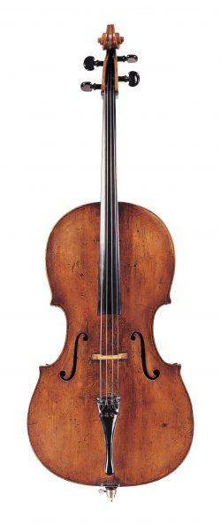 Front of a cello by Giovanni Battista Gabrielli, Florence, circa 1750